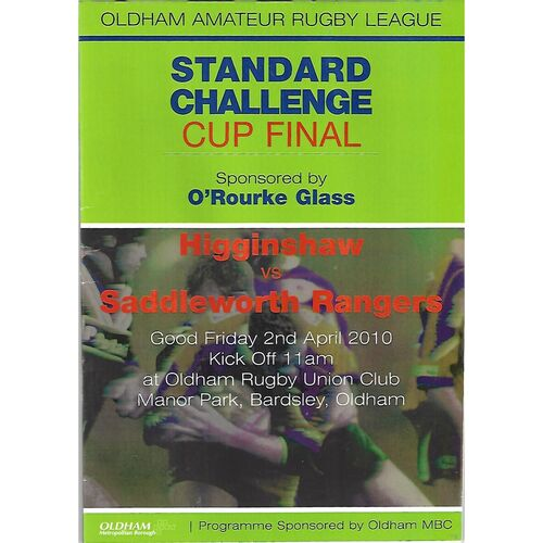 Standard Cup Final Rugby League Programmes