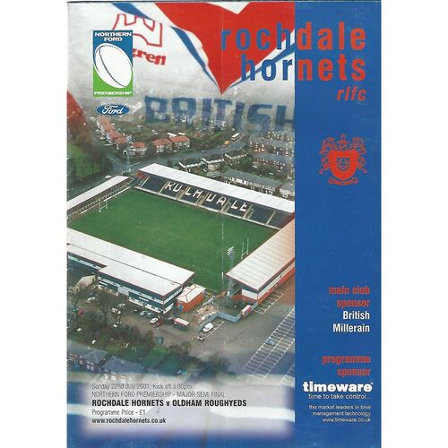 Northern Ford Premiership Semi Final Rugby League Programmes