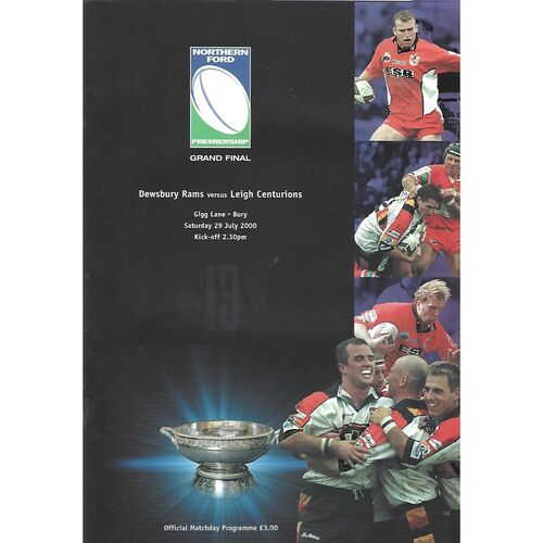 Northern Ford Premiership Grand Final Rugby League Programmes