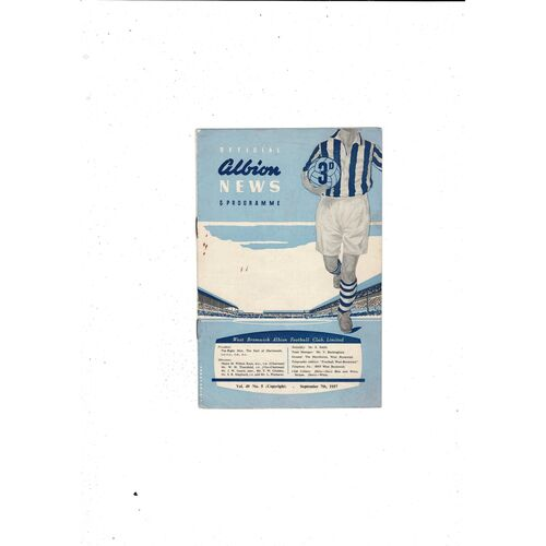 1957/58 West Bromwich Albion v Preston Football Programme
