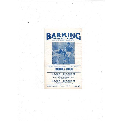 1963/64 Barking v Enfield Football Programme