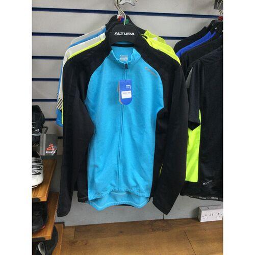 Men's Jersey - Giant Tour LS Thermal Jersey - Blue Black