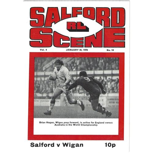 1975/76 Salford v Wigan Rugby League Programme