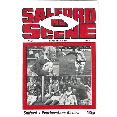 1977/78 Salford v Featherstone Rovers Rugby League Programme