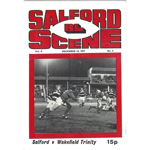 1977/78 Salford v Wakefield Trinity Rugby League Programme