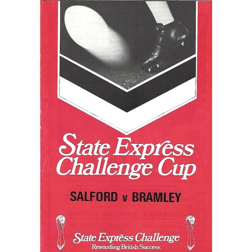 1978/79 Salford v Bramley State Express Challenge Cup 1st Round Rugby League Programme & Teamsheet