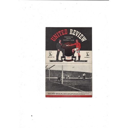 1948/49 Manchester United v Bournemouth FA Cup Football Programme