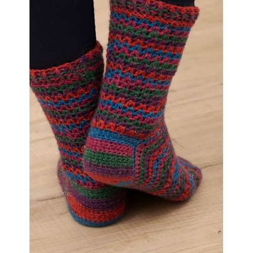 Tinsel Toes Crocheted Socks - 4ply WYSpinners