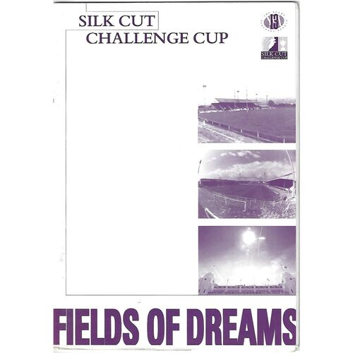 1998/99 Saddleworth Rangers v Walney Central Silk Cut Challenge Cup 2nd Round Rugby League Programme