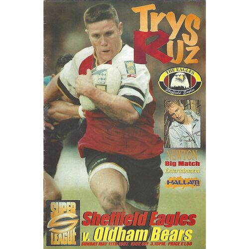 1997 Sheffield Eagles v Oldham Bears Rugby League Programme