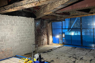 Decontamination of a prominent City Centre building
