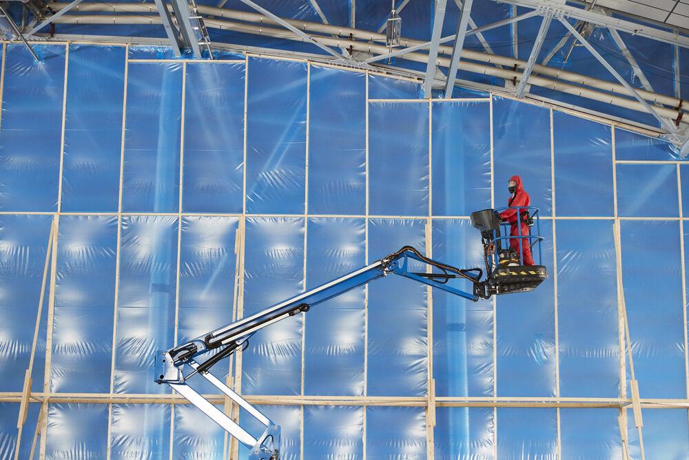 MOD Lyneham - Construction of a large enclosure