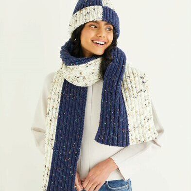 Chunky Hat & Scarf Pattern 10338