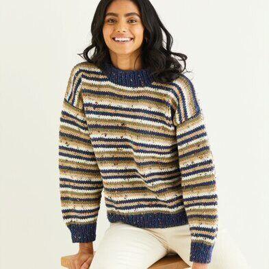 Striped Sweater Pattern 10343