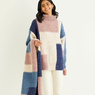 Sweater & Scarf Pattern 10340