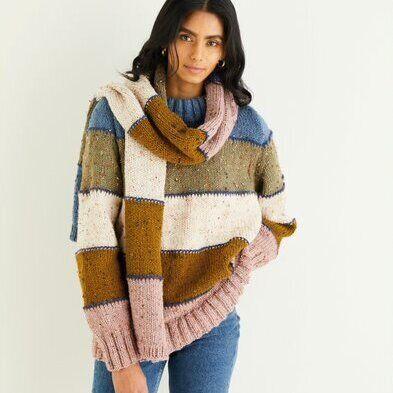 Sweater & Scarf Pattern 10339