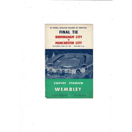 1956 Birmingham City v Manchester City FA Cup Final Football Programme