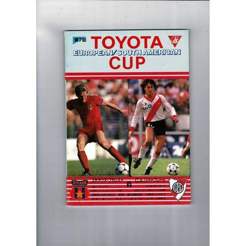 Steaua Bucharest v River Plate Toyota Cup Football Programme 1986