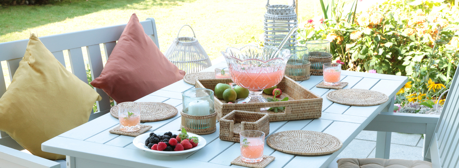 Rattan Trays and Tablemats