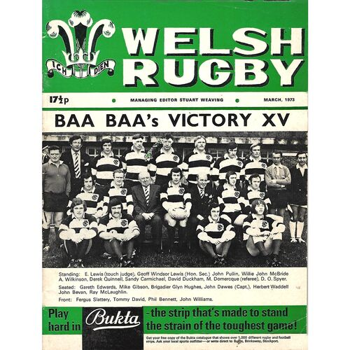 1973 Welsh Rugby Magazine (03/1973)