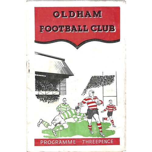 1956/57 Oldham v Swinton Rugby League Programme