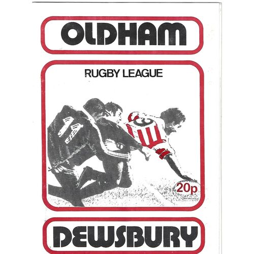 1979/80 Oldham v Dewsbury Rugby League Programme