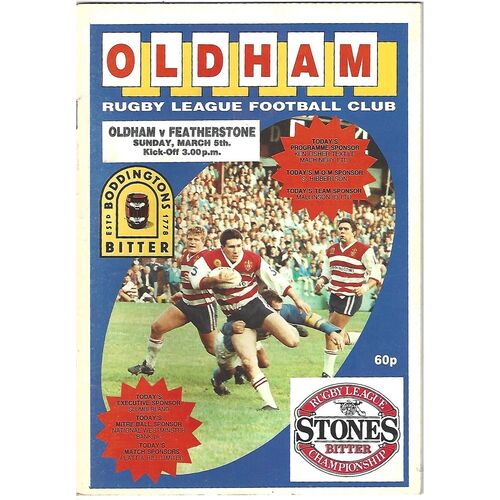 Featherstone Rovers Away Rugby League Programmes
