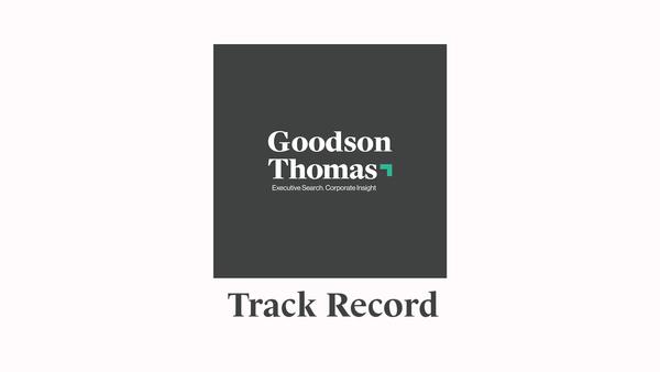 Goodson Thomas: Track Record
