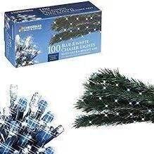 100 Blue and White Chaser Lights