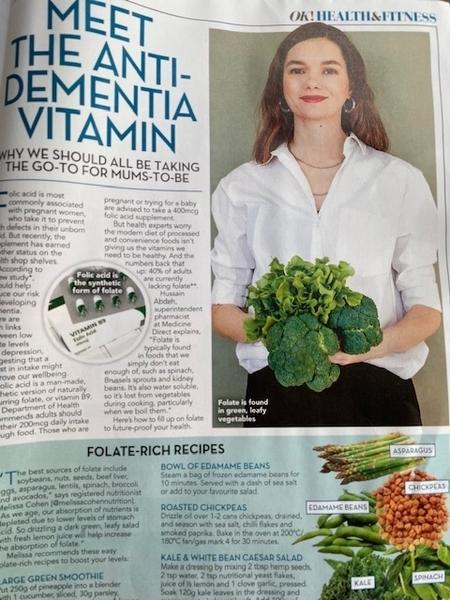 Meet The Anti-Dementia Vitamin for OK Magazine, September 2021 Addition