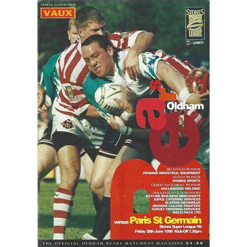 Paris St. Germain Away Rugby League Programmes