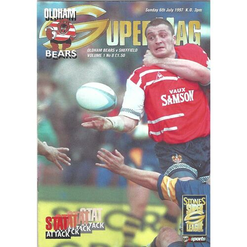 1997 Oldham Bears v Sheffield Eagles Rugby League Programme