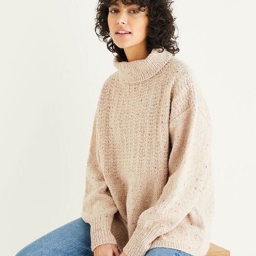 Roll Neck Casual Sweater Pattern 10299