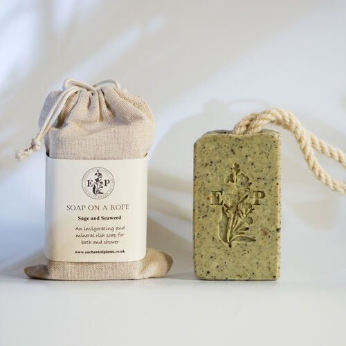 Seaweed and Sage soap on a Rope
