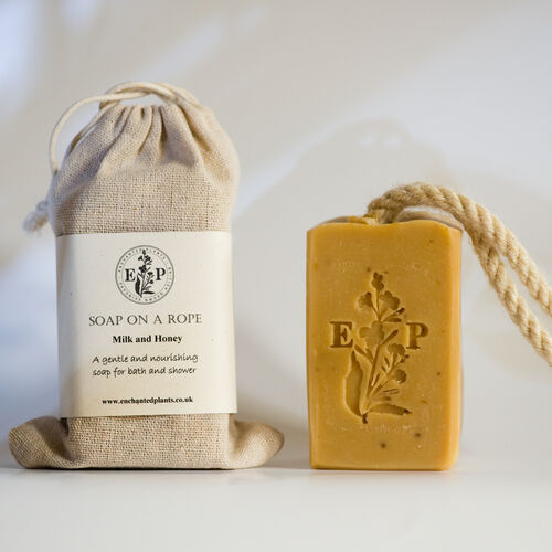 Milk and Honey Soap on a Rope