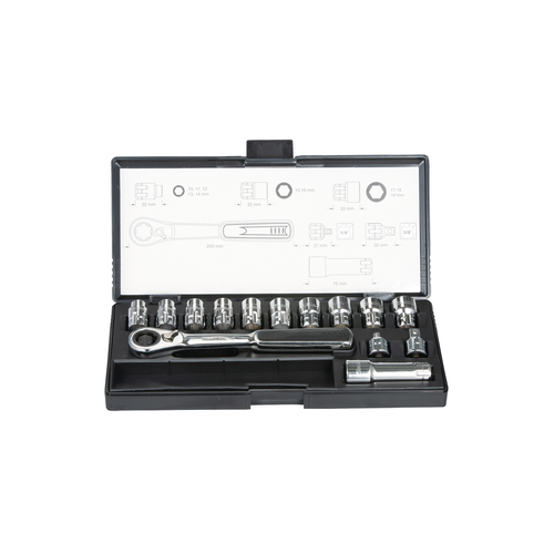 14pcs. Pass thru socket set - Makita - B-65595