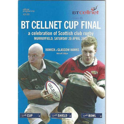 BT Cellnet Cup Final Rugby Union Programmes
