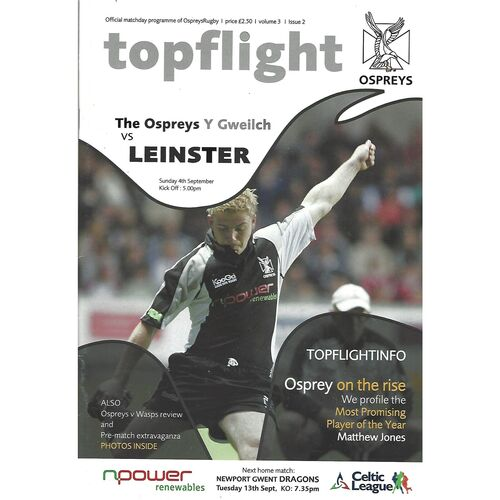 Leinster Away Rugby Union Programmes