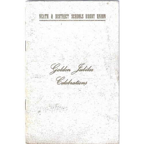 1954 Neath & District Schools Rugby Union Golden Jubilee Brochure