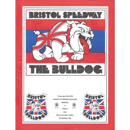 1978 Bristol v Poole Gauntlet Spring Gold Cup (28/04/1978) Speedway Programme
