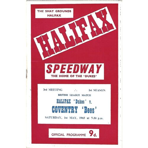 Coventry Away Speedway Programmes