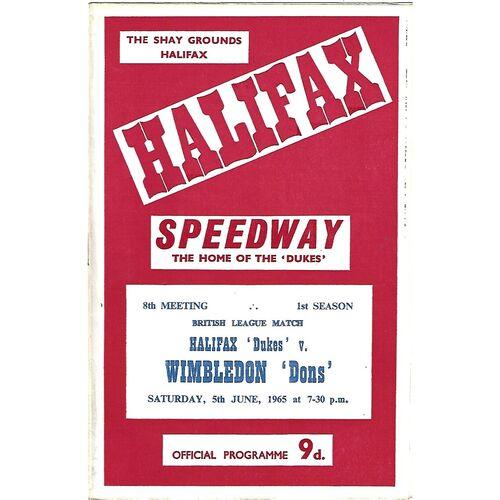 Halifax Home Speedway Programmes