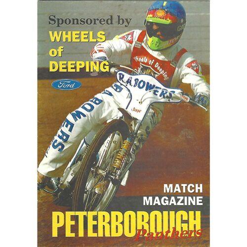 Peterborough Home Speedway Programmes