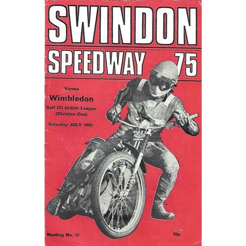 Swindon Home Speedway Programmes