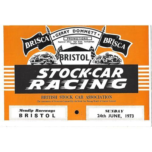 1973 Bristol (24/06/1973) Stock Car Racing Programme