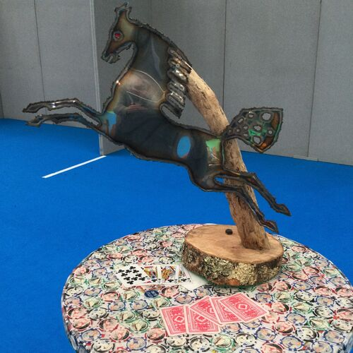 1960s Stainless Steel Horse Sculpture.