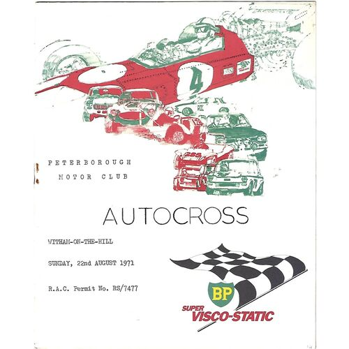 1971 Witham-On-The-Hill Peterborough Motor Club Autocross (22/08/1971) Autocross Programme