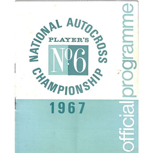 1967 Cambridge National Autocross Championship Eastern Area Finals (03/09/1967) Autocross Programme