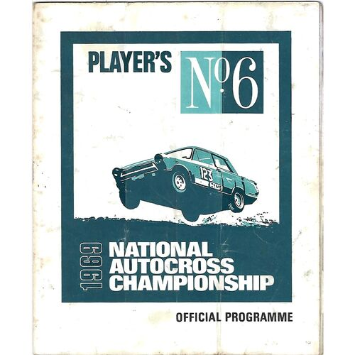 1969 National Autocross Championship Peterborough Motor Club (??/??1969) Autocross Programme & Practise Time Sheets