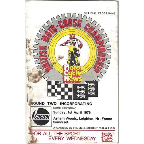 1979 Leighton British Moto-Cross Championship Round Two (01/04/1979) Moto-Cross Programme